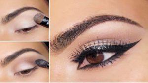 Ночной макияж для карих глаз