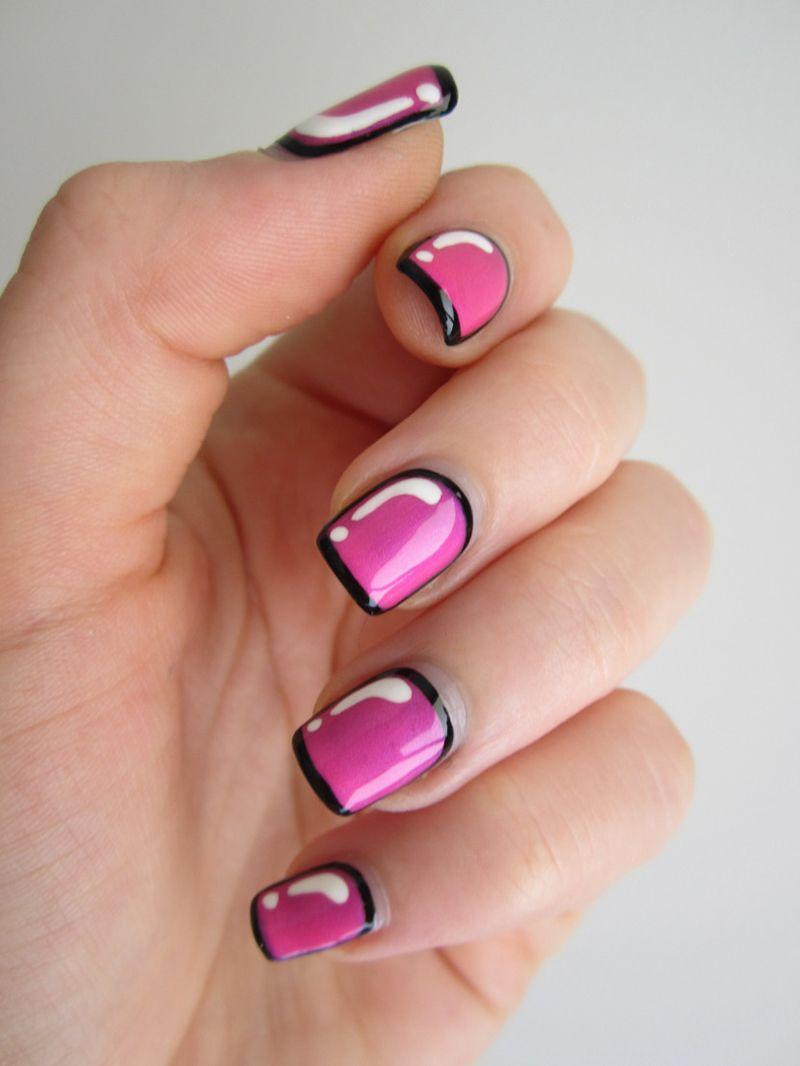 Модный маникюр ногти в рамке